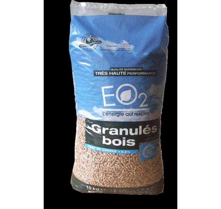 Sac de granulés de bois EO2 de 15Kg